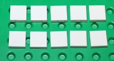 Lego 10x White Tile 1x1 NEW!!!