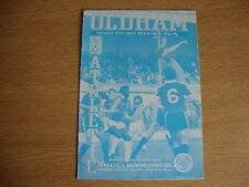 1981/2 Oldham Athletic v Manchester United - Friendly - Good Condition