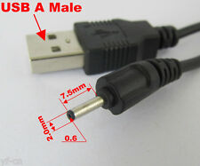 1pc 70cm USB 2.0 A Male to 0.6 x 2.0mm Male Plug 5V DC Power Charger Cable