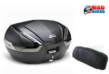 GIVI V47 NNT TECH MONOKEY MOTORCYCLE LUGGAGE TOP BOX 47L + FREE E134S BACKREST