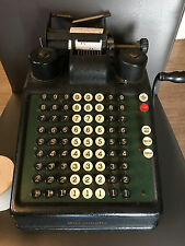 Antique Burroughs Adding Machine w/ Hand Crank
