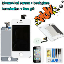 For iPhone4 LCD Display Touch Screen Digitizer +back cover+homebutton WHITE