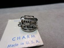 Nos Vintage Sterling Silver San Fransisco Cable Car Rotating Charm
