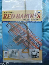 BUILD THE RED BARON'S FIGHTER PLANE FOKKER DR1  HACHETTE  ISSUE 64 NEW SEALED