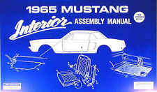 1965 Ford Mustang Interior Assembly Manual 65 Seats Trim Door Panels More