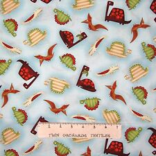 Nursery Baby Fabric - Dino-Riffic Dinosaurs Toss Light Blue - Studio E YARD