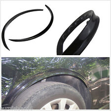 Black Car Left & Right Fender Wheel Flares Arch Protector Anti-Scratch Stickers