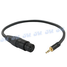 JJC 3-pin XLR Female to 3.5mm Input Cable Adapter Connector for Mono Microphone
