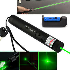 Military 5mw 532nm Zoomable Focus High Power Green Laser Pointer Pen 301+Battery