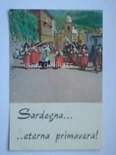 Sardegna processione a Desulo Nuoro vecchia cartolina