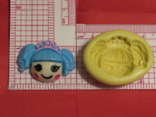 Doll Character with Crown Silicone Push Mold Resin Clay Candy 65 Bookscraping