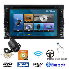 "6.2"" 2DIN Car Stereo DVD Player Bluetooth iPod MP3 TV GPS Navigation HD+Camera L"