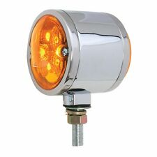 Double Face Spyder 16 Amber/Red LED Pedestal Light - Clear Lens