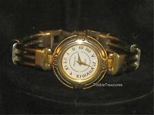 VINTAGE RUMOURS LADIES QUARTZ WATCH EXCEPTIONAL FACE SILVER & GOLDTONE WOW! z209