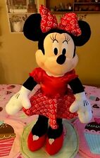 """Valentines Day Heart Minnie Mouse Window Greeter 26"""" Wreath Gift Swag Pick Choc"""
