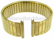 18-22mm Speidel Stainless Gold Tone Metal Watch Band X-Long 5454