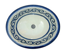 #052) LARGE 21x17 MEXICAN BATHROOM SINK CERAMIC DROP IN UNDERMOUNT BASIN