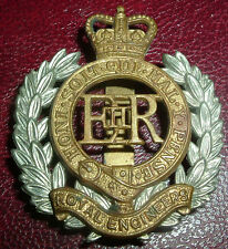 CAP BADGES-ORIGINAL QUEENS CROWN BI-METAL ROYAL ENGINEERS POST 1953