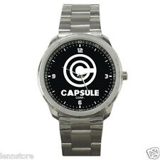 Dragon Ball Z Capsule Corp. Logo Stainless Steel Watch