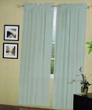 2 Pcs Sheer Voile Window Panel Solid Brand New Curtain