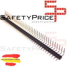 5 x Tira 40 Pines Macho 2,54 mm Acodados 90º Electronica Arduino