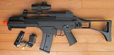 G36C Style High Power Electric Airsoft Rifle with a Red Dop Scope, High Cap. Mag