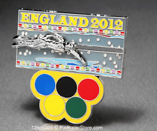 OLYMPIC PINS 2012 LONDON ENGLAND SWIMMING SWIMMER SLIDER SLIDING (SILVER) SPORTS
