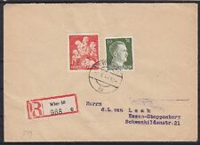 DR Mi Nr. 839, 794 MiF auf R- Brief Wien - Essen 1943, Deutsches Reich