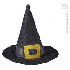 Mini Black Witches Hat Halloween Fancy Dress Costume Accessory On Hair Clips