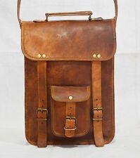 Real natural leather messenger satchel sling mens vintage handmade retro bag