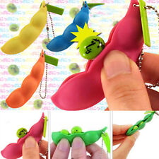 1Pc Cute Artifical Green Soy Bean Plastic Stress Pressure Release Squeeze Toys