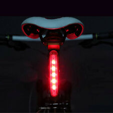 Red 5 LED Bicycle Rear Tail Light Bike Cycle Warning Lamp 4 Modes Super Bright