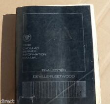Genuine Factory 1986 Cadillac DEVILLE FLEETWOOD Shop Manual Service BOOK By HELM