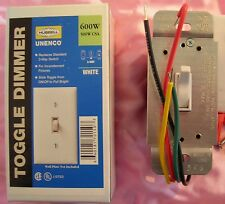 3-way toggle dimmer. Clear, Lighted, switch.