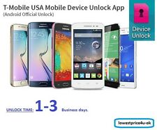 Android DEVICE UNLOCK APP Service T-Mobile USA for LG SAMSUNG Galaxy S7 HTC SONY
