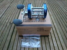 New AIHUA Blue CB50 Fishing Reel,Right or Left Holds,Boxed