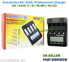 Lithium Rechargeable Smart Battery Charger AA AAA C/D Ni-MH NI-CD LCD