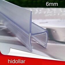 PVC PLASTIC SHOWERSCREEN SHOWER SCREEN DOOR WATER SEAL STRIP LINING FOR 6MM