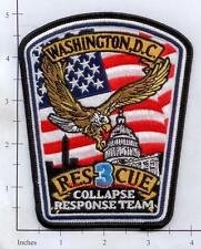 Washington DC - Rescue 3 District of Columbia Fire Dept Patch  Collapse Response