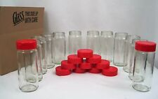 Glass 8 oz Jars Dbl Fliptop Lids with Seals Perfect for Spices or Blends Lot 12