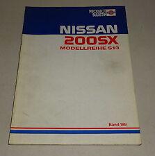 Produkt-Bulletin / Technische Info Nissan 200 SX S13 Stand 12/1988