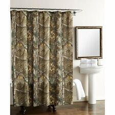 Shower Curtain Bathroom Accessories Cabin Rustic Bath Camouflage Camo fabric