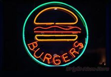 "Burger Neon Sign Display Restaurant Bar Food Store Real Neon Light17""X14""Z482"