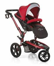 Jane Trider Extreme Deep Red   All Terrain Stroller   FREE INFANT CAR SEAT ADAPT