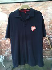 ARSENAL FOOTBALL CLUB NAVY POLO SHIRT SIZE L VGC OFFICIAL MERCHANDISE