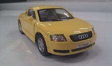 AUDI TT jaune kinsmart voiture miniature 1/32 à l'échelle miniature auto modèle