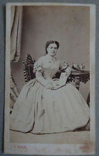 Photo Albuminé Noack Princesse ? Carte de Visite Cdv Vers 1860