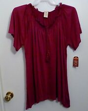 Faded Glory Womens Top Size: 2X Color: purpleish pink  Poly-Rayon sold sep   NWT