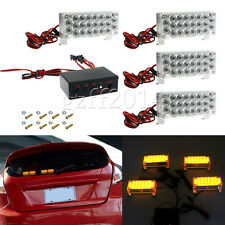 4x22LED 88led Car Truck Amber Strobe Emergency Flashing Warning Yellow Lights