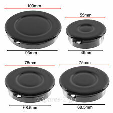 STOVES Oven Cooker Gas Hob Burner & Flame Cap Crown Black Small Medium Large